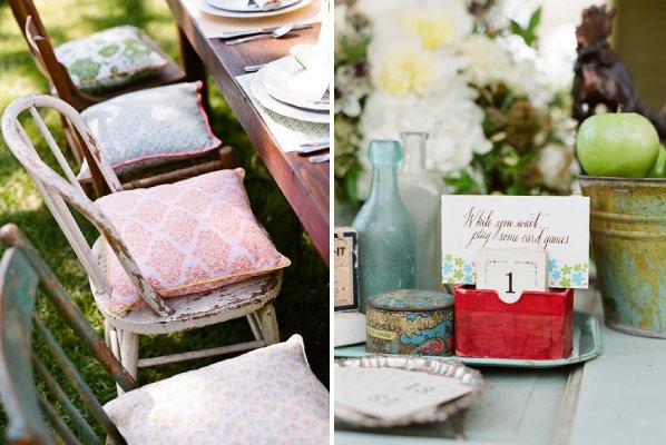 love-03 Cenas de um picnic shabby chic de Primavera